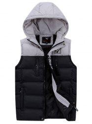 591 - A532 Men Casual Youth Hooded Cotton Vest -