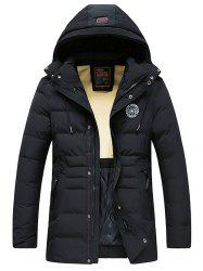 8806 - A532 Men's Down Cotton Padded Hooded Jacket -