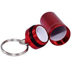 Mini Cartridge Aluminum Alloy First Aid Pill Bottle Canister Keychain -