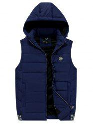 181 - A532 Winter Men Casual Youth Plus Velvet Hooded Vest -