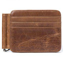 MVA 7607 Leather Card Holder Card Set Multi-function Men's Leather Retro Wallet -