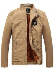 1823 - A532 Winter Men's Plus Velvet Youth Business Fashion Washed Jacket -
