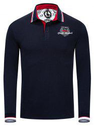 FM061 Men's Casual Long-sleeved Embroidered POLO Shirt -