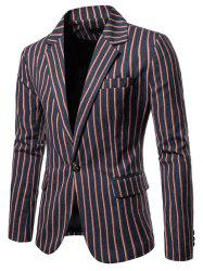 9650 Autumn Winter Men's Casual Striped Europe America Large Size Suit -