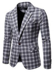 9651 Europe United States Large Size Plaid Casual Suit -