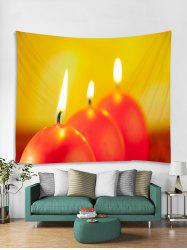 Christmas Candle Pattern Tapestry Art Decoration -