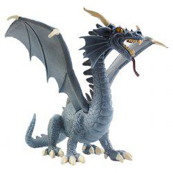 Plastic Blue Dragon Model Toy -