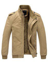 629 - A532 Winter  Men's Business Casual Large Size Middle-aged Jacket Trench Coat Parka -