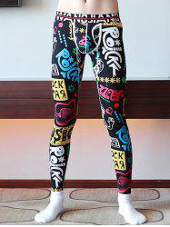 Men's Thin Print Leggings -