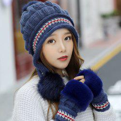 Fashion Sweet Cute Knitted Thick Warm Rabbit Hair Hat -