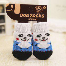 580 Dog Pet Slip-proof Teddy Socks 4pcs -
