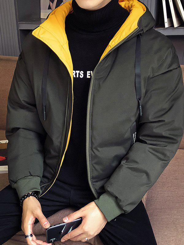 Discount Large Autumn And Winter Men Thickening Casual Hooded Youth Jacket