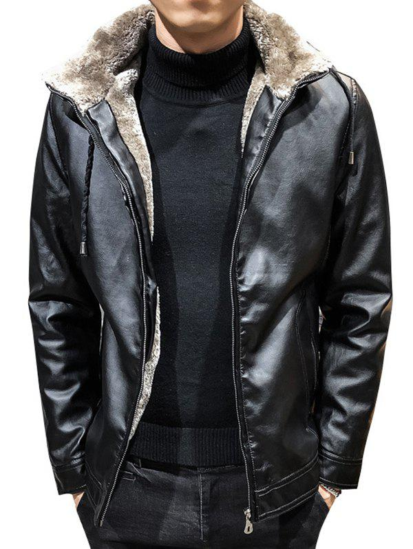 Chic Casual Thick Warm PU Leather Jacket