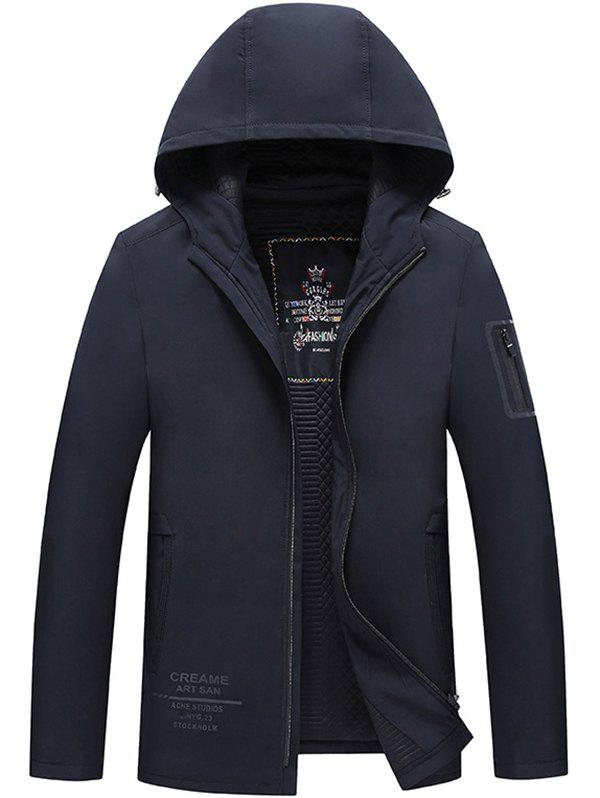 Latest Middle-aged Cotton Casual Men Hooded Warm Cardigan Jacket