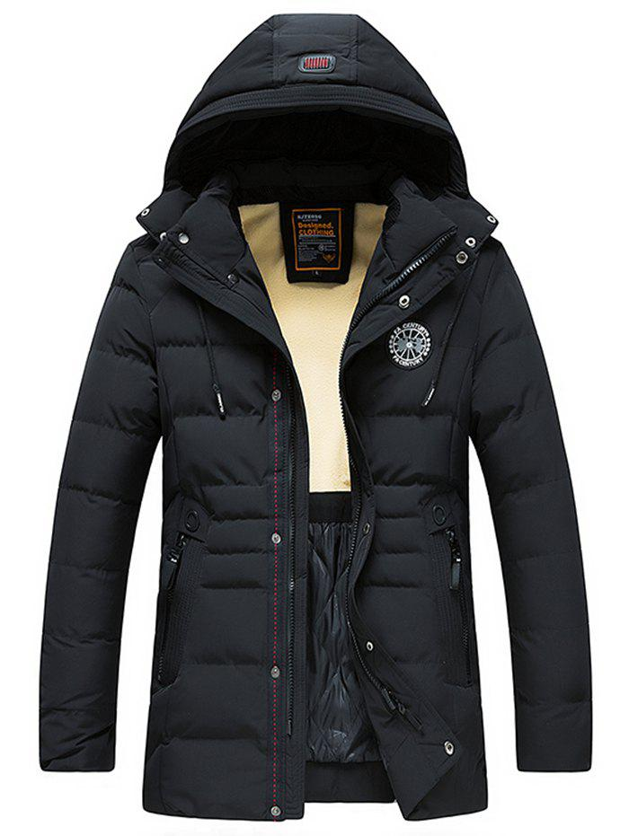 Best 8806 - A532 Men's Down Cotton Padded Hooded Jacket