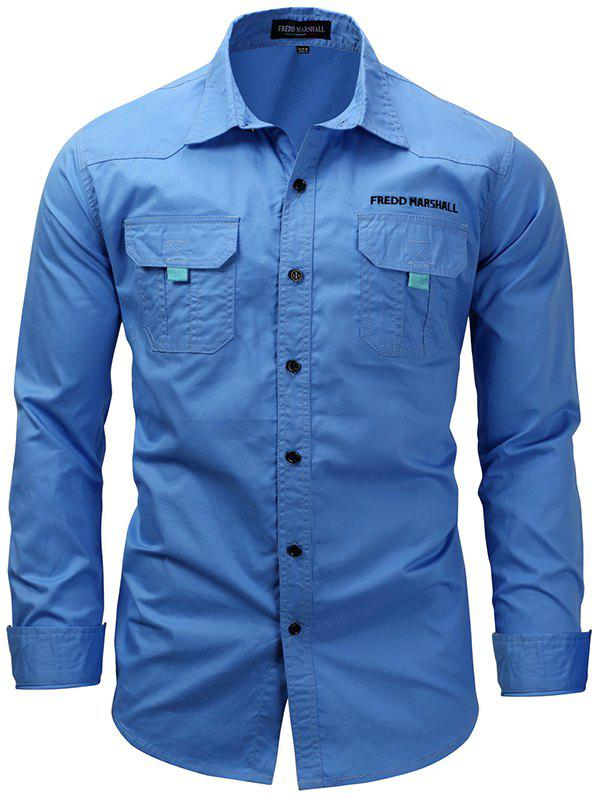 Online FREDD MARSHALL FM168 Men's Casual Long-sleeved Tooling Outdoor Shirt