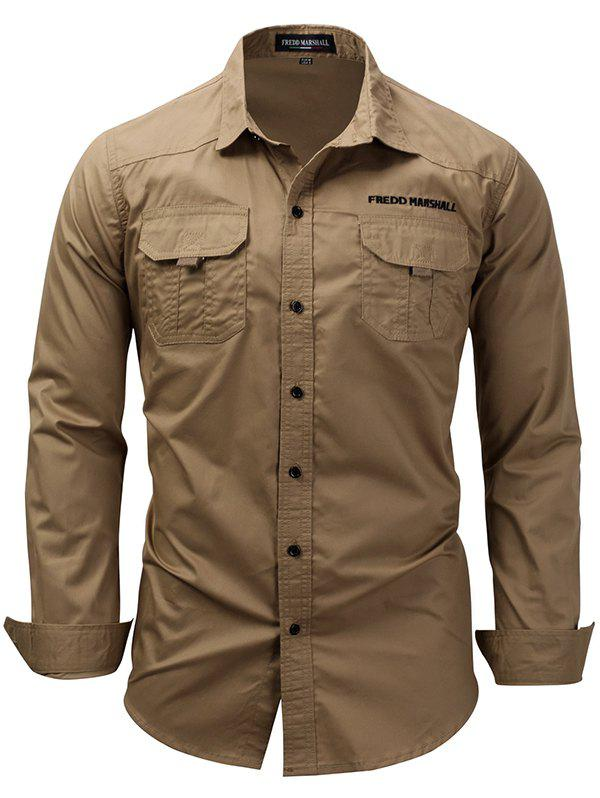 Buy FREDD MARSHALL FM168 Men's Casual Long-sleeved Tooling Outdoor Shirt