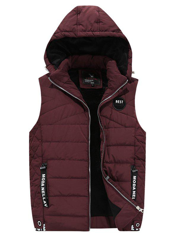 Store 1891 - A532 Winter Youth Men Cotton Casual Hooded Down Vest