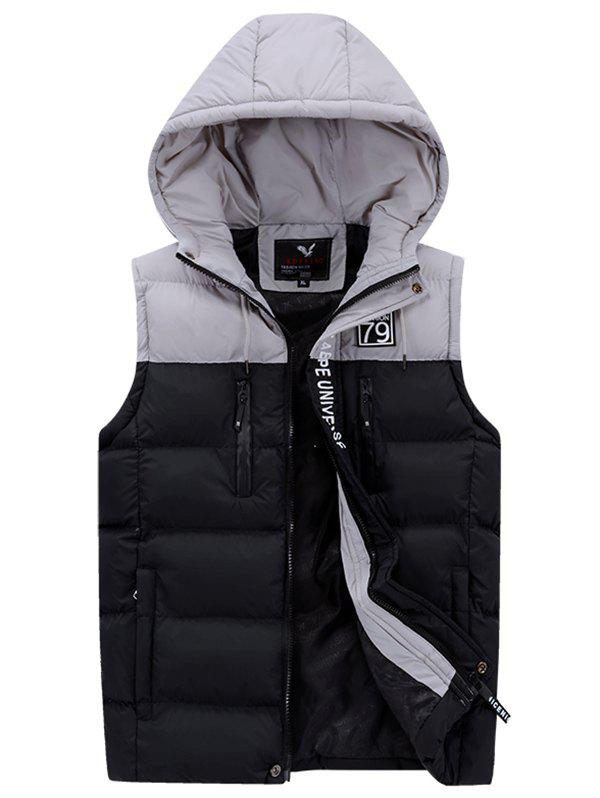 Shop 591 - A532 Men Casual Youth Hooded Cotton Vest