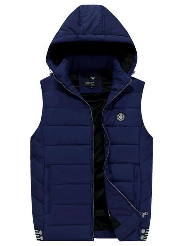 Chic 181 - A532 Winter Men Casual Youth Plus Velvet Hooded Vest
