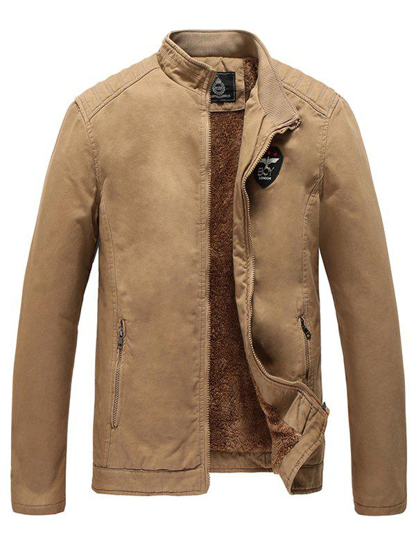 Outfit Men's Winter Fashion Business Casual Washed Windbreaker Jacket