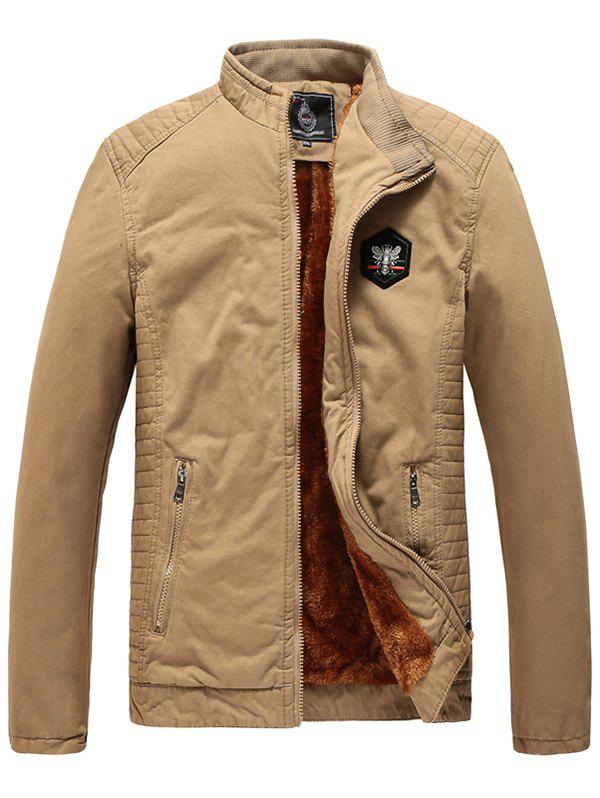 Store 1823 - A532 Winter Men's Plus Velvet Youth Business Fashion Washed Jacket