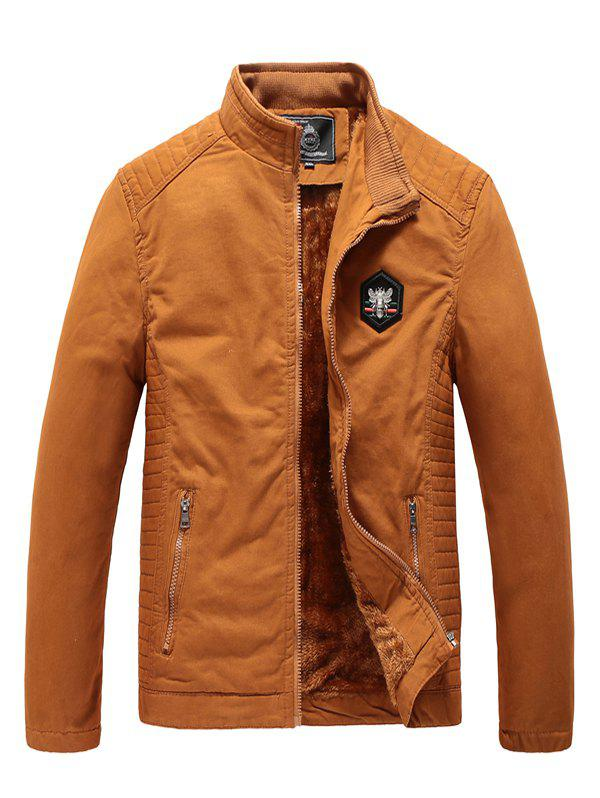 Outfits 1823 - A532 Winter Men's Plus Velvet Youth Business Fashion Washed Jacket