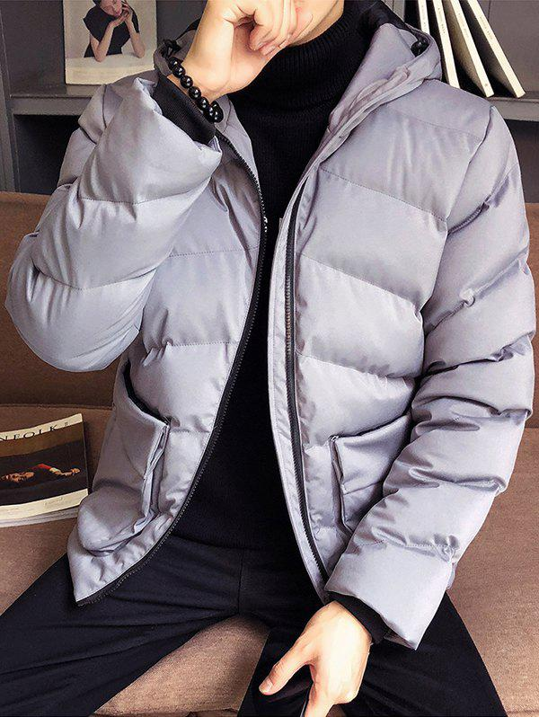 Shop Autumn And Winter Thickening Casual Hooded Hat Youth Trench Coat