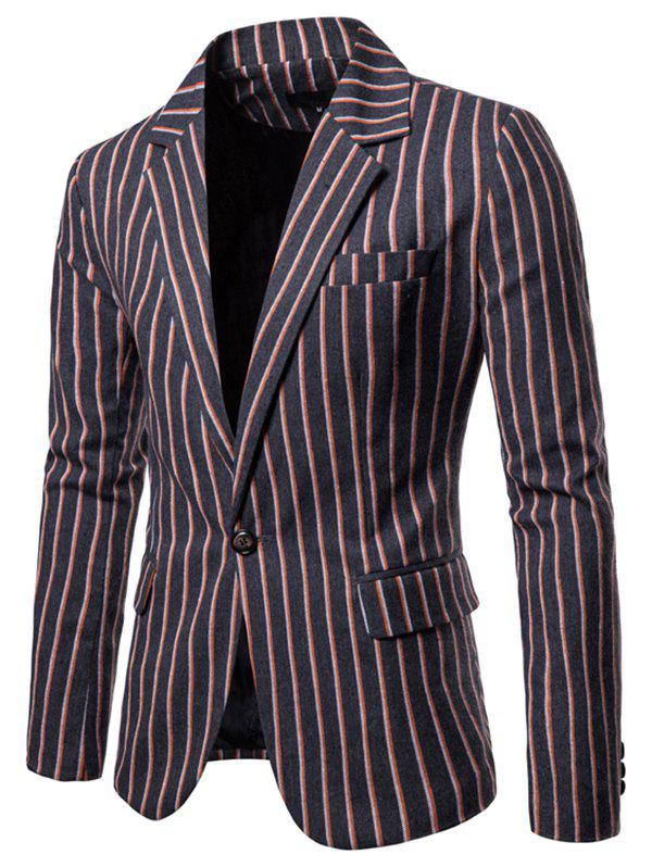 Chic 9650 Autumn Winter Men's Casual Striped Europe America Large Size Suit