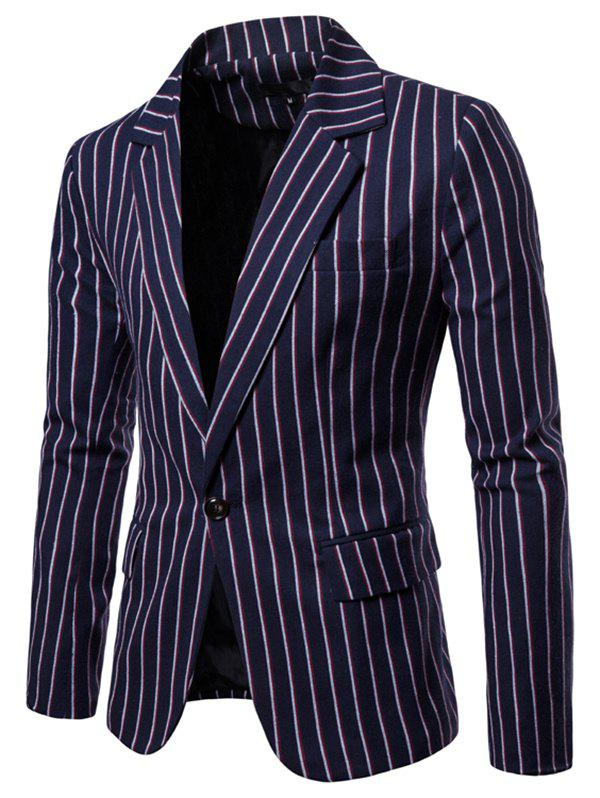 Best 9650 Autumn Winter Men's Casual Striped Europe America Large Size Suit