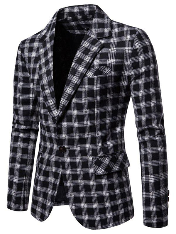 Online 9651 Europe United States Large Size Plaid Casual Suit