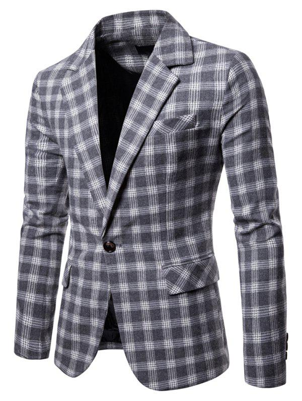 Affordable 9651 Europe United States Large Size Plaid Casual Suit