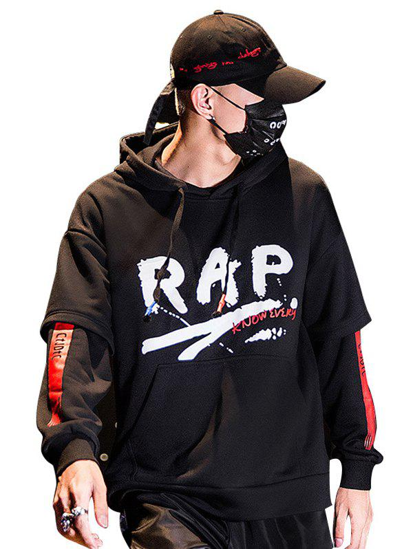 Online Men's Autumn Winter Style Tide Brand Letter Printing High Collar Hooded Couple Hoodie