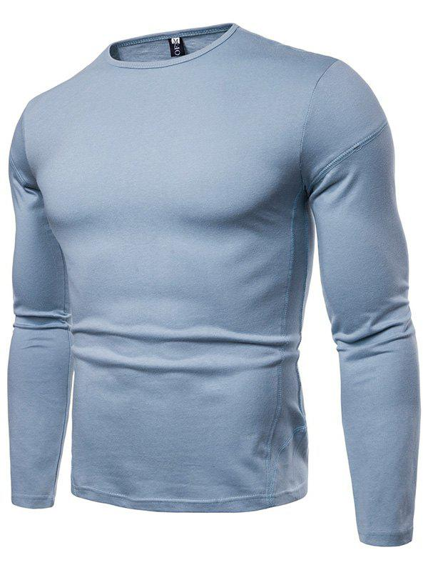 Sale Men Solid Long Sleeve Comfortable T-shirt Primer Shirt