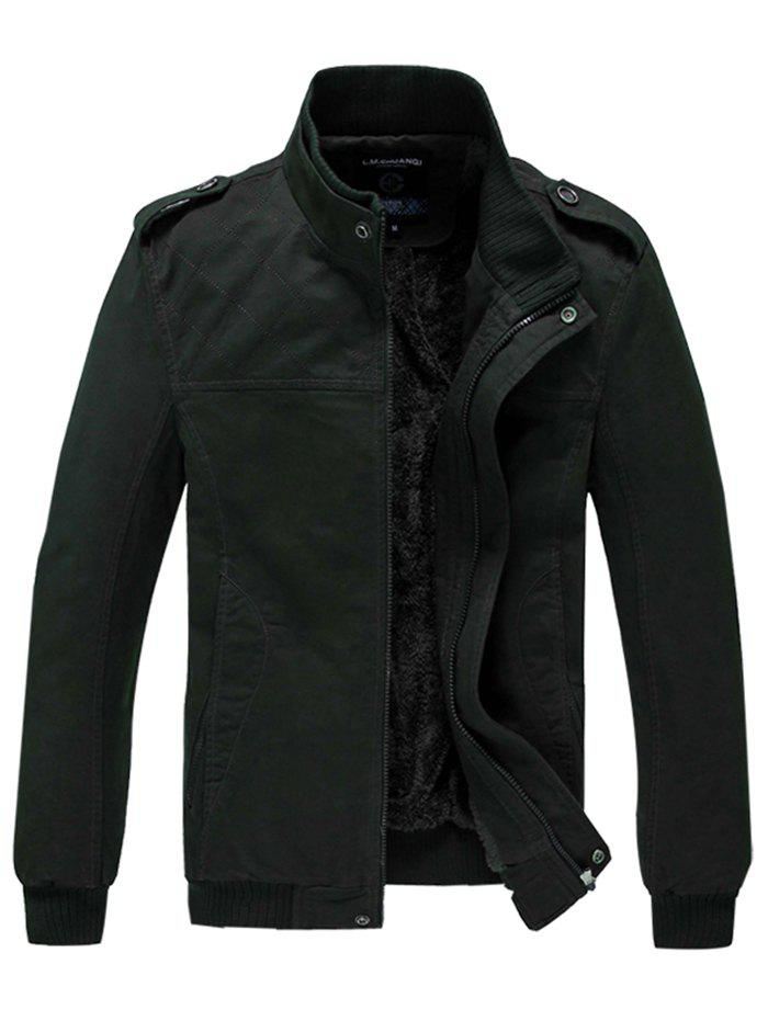 Discount 629 - A532 Winter  Men's Business Casual Large Size Middle-aged Jacket Trench Coat Parka