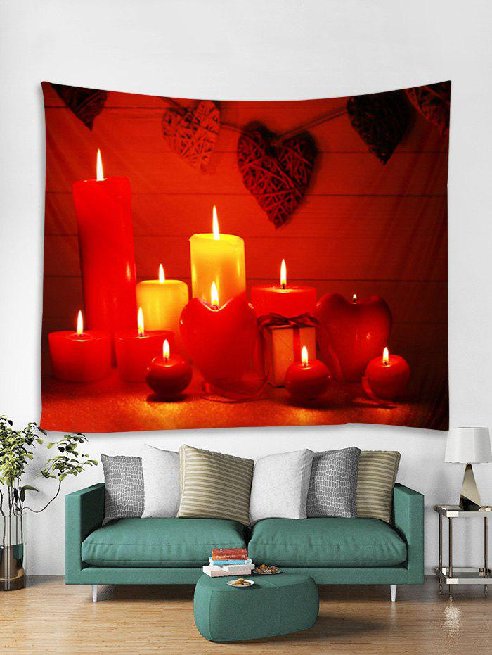 Unique Christmas Candle Heart Pattern Tapestry Art Decoration