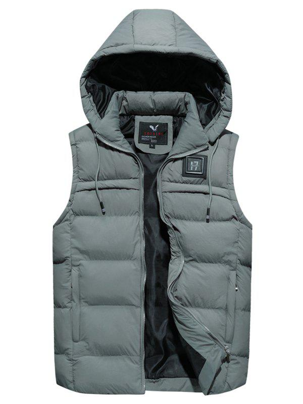 Outfits 8806 - A532 Winter New Men Korean Youth Large Size Hooded Cotton Down Vest