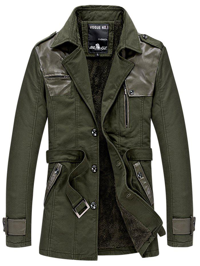Unique 569 - A532 Men's Casual  Youth Fashion Business Windbreaker Jacket Trench