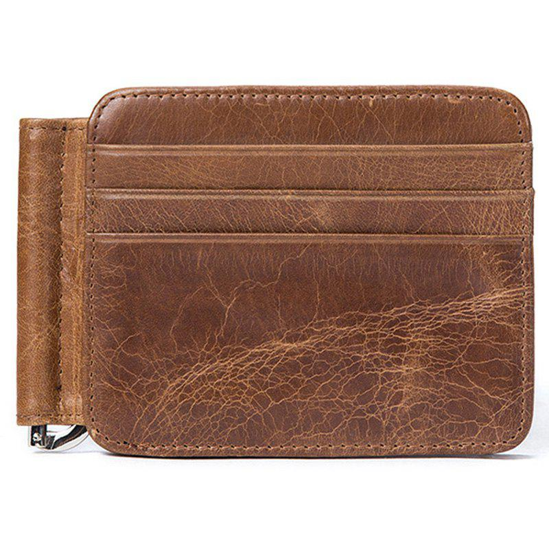 Chic MVA 7607 Leather Card Holder Card Set Multi-function Men's Leather Retro Wallet
