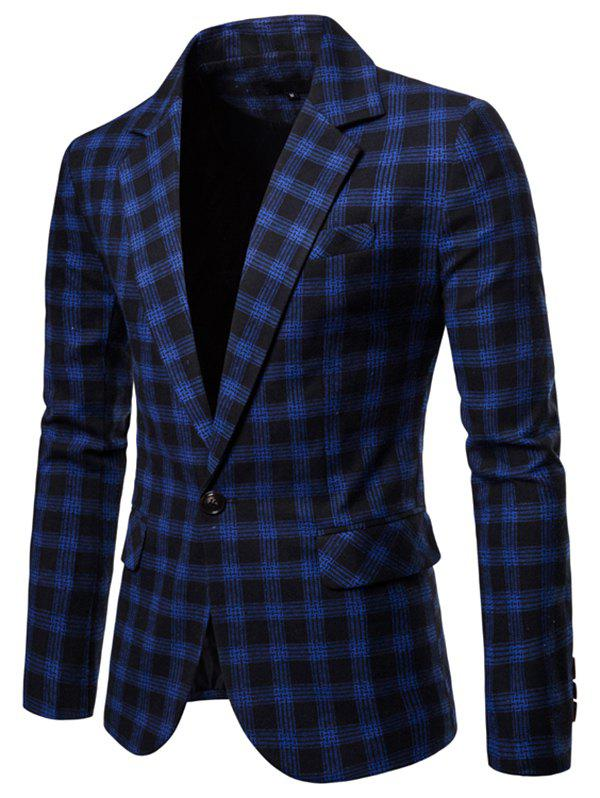 Trendy 9651 Europe United States Large Size Plaid Casual Suit
