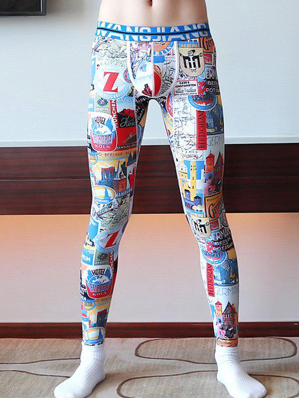 Outfits Men's Thin Print Leggings