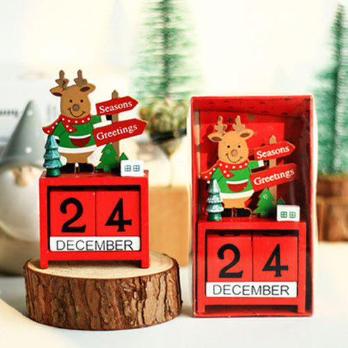 Cheap Christmas Desk Calendar Desktop Decoration for Company Activities
