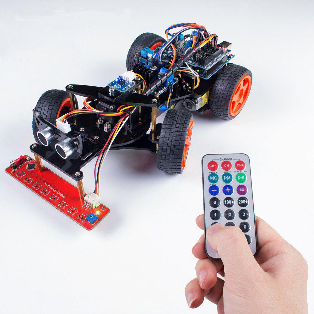 Trendy SunFounder V2.0 Remote Control Robot Smart RC Car Kit for Arduino