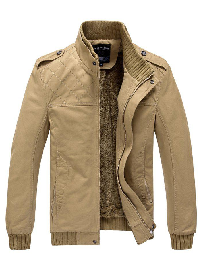 Fashion 629 - A532 Winter  Men's Business Casual Large Size Middle-aged Jacket Trench Coat Parka