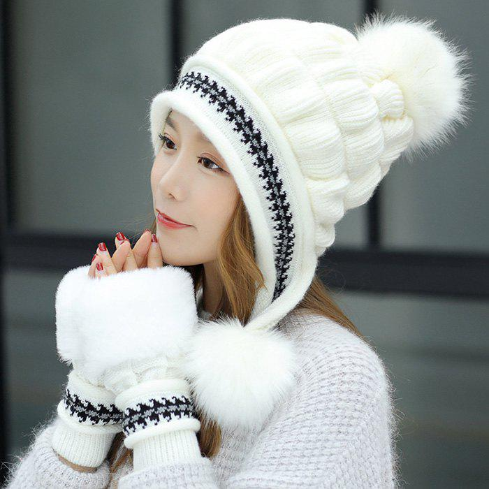 Outfits Fashion Sweet Cute Knitted Thick Warm Rabbit Hair Hat