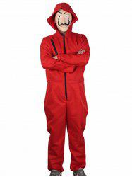 Red Jumpsuit Clown Suit for Cosplay -