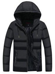 Men Leisure Comfortable Warm Hooded Zipper Down Coat -