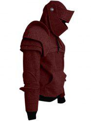 Solid Color Men's Retro Drawstring Knight Sweater -