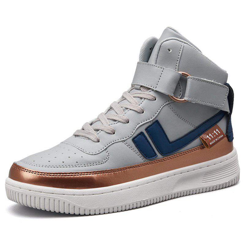 Online Stylish Men's British High-top Casual Shoes