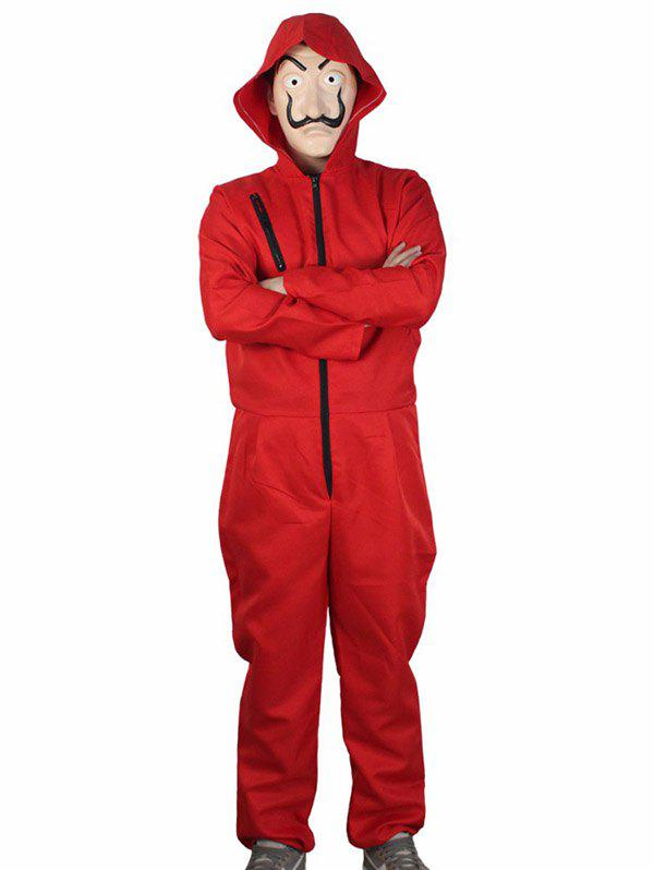 Fancy Red Jumpsuit Clown Suit for Cosplay